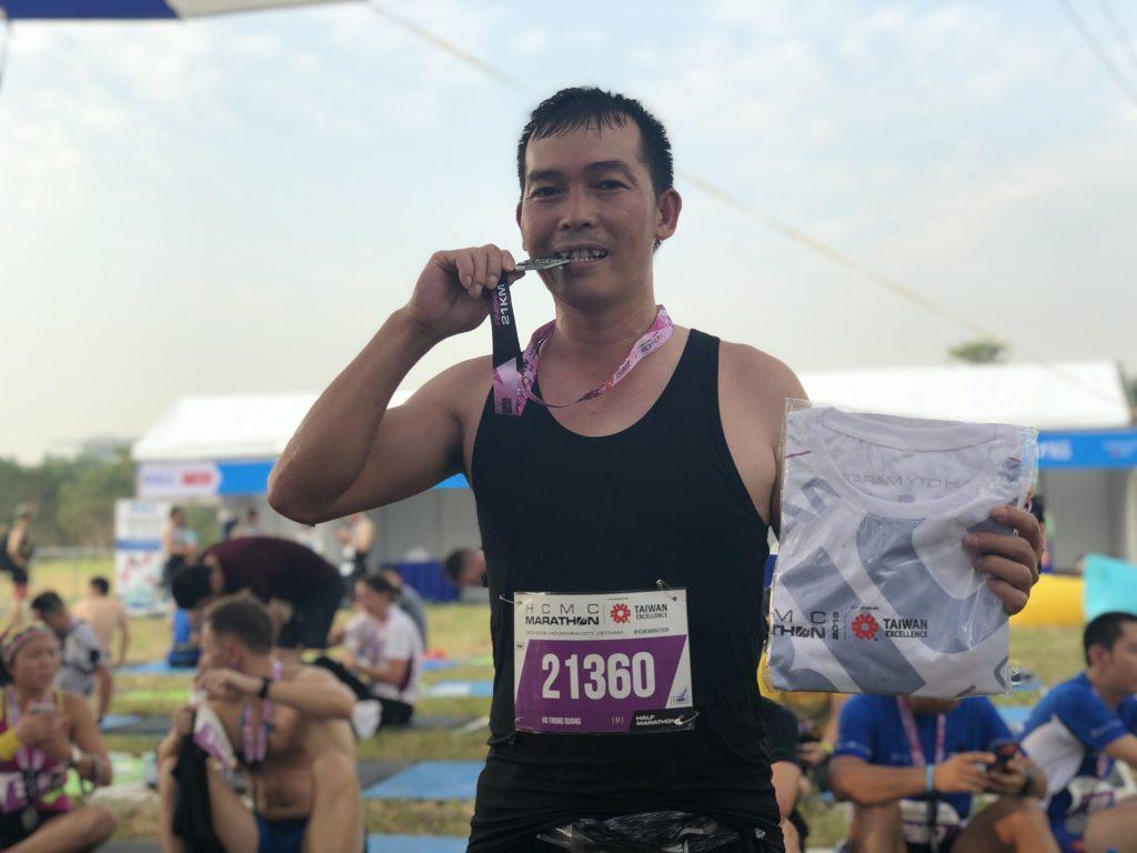 Võ Trọng Quang tham gia giải Marathon rèn luyện sức khỏe