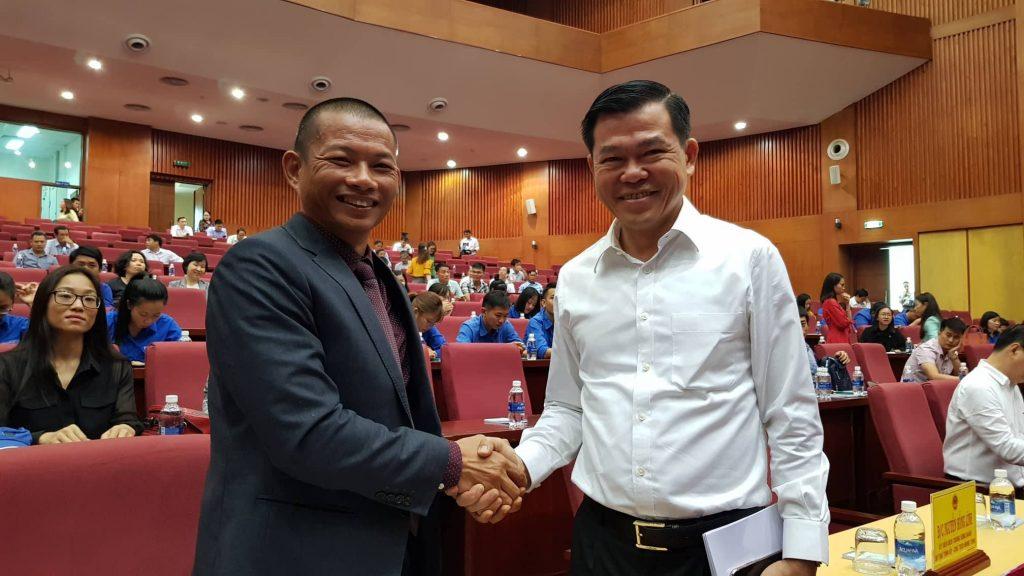 Phạm Thành Long và ông Nguyễn Hồng Lĩnh - Bí thư tỉnh Bà Rịa Vũng Tàu
