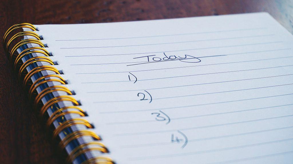 Danh sách công việc cần làm hàng ngày