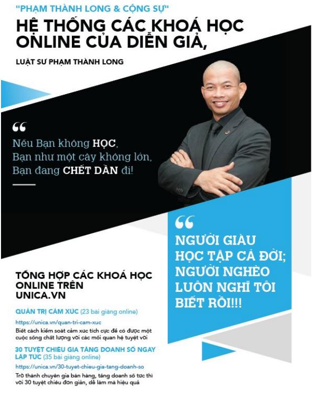 Hệ thống các khóa học online của Diễn giả, Luật sư Phạm Thành Long